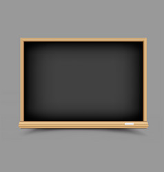 Black empty blackboard vector