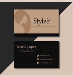 Black minimal business card images vector