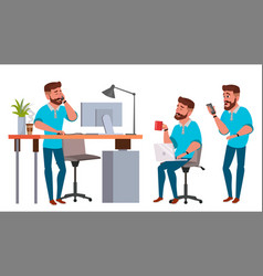 Business man character working man vector