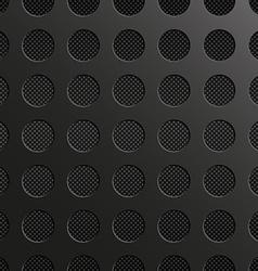 Carbon black circle vector