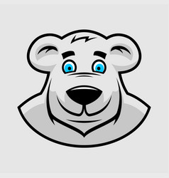 Cartoon bear head vector