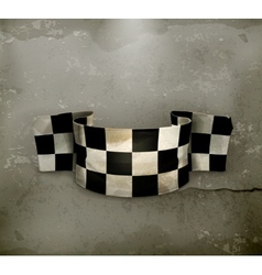 Checkered flag old style vector image