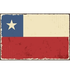 Chile grunge flag vector