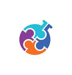 Circle group bottle logo vector