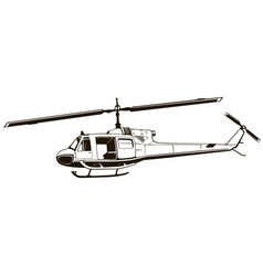 classic helicopter vector image