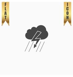 Cloud thunderstorm lightning rain icon vector