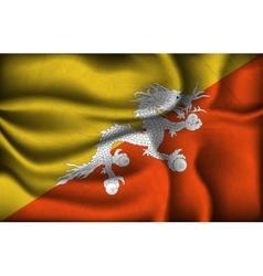 crumpled flag bhutan on a light background vector image