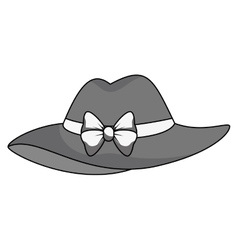 Cute hat female icon vector