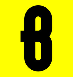 Dark modern font trendy alphabet black letter on vector