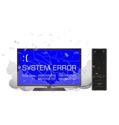 desktop computer with error screen vector image