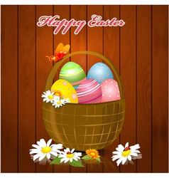 Easter greeting card vector image