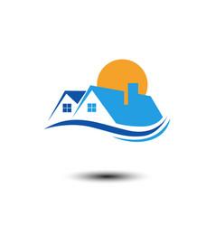eco business building company logo vector image