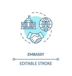 Embassy concept icon vector