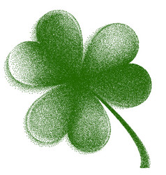 engraving happy st patrick s day trifolium clover vector image