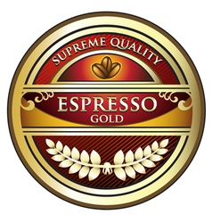 Espresso red label vector