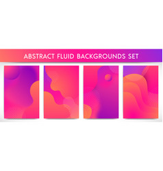 fluid shapes vertical banners set vector image