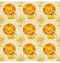 Funny seamless pattern with vector image vector image