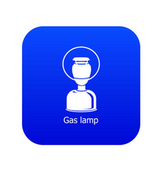 Gas lamp icon blue vector