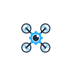 gear drone logo icon design vector image