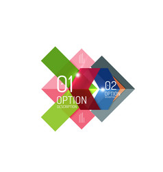 geometric abstract background colorful elements vector image