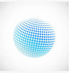 halftone blue spheres vector image
