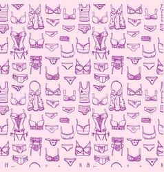 Hand drawn icons underwear vector