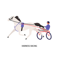 Harness racing flat male vector
