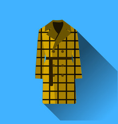 icon fashion clothes long coat with long shadow vector image