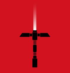 Laser saber poster vector