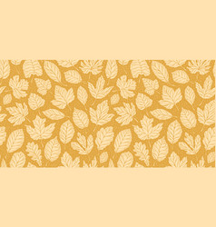 leaf fall leaves seamless background autumn vector image