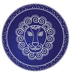 Leo astrology sign horoscope zodiac symbol vector
