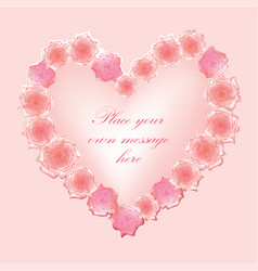 love hearts holiday background greeting card vector image