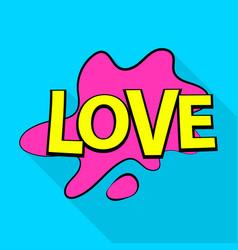 love icon pop art style vector image