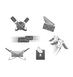 Mail post letter envelope postal icon vector