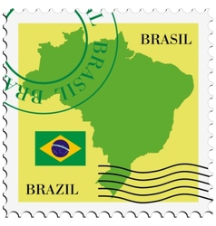 Mail to-from Brazil vector