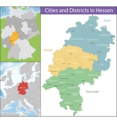 Map of Hesse vector image