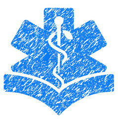 medical knowledge grunge icon vector image
