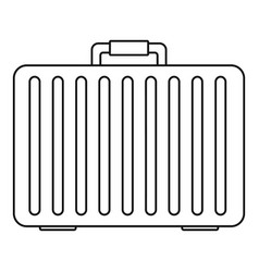 metal hand bag icon outline style vector image