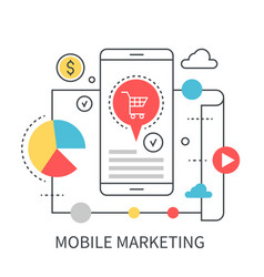 mobile marketing concept vector image