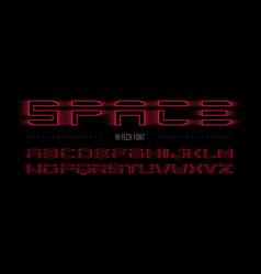 modern hi-tech style font vector image