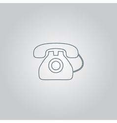Office telephone - icon isolated vector image