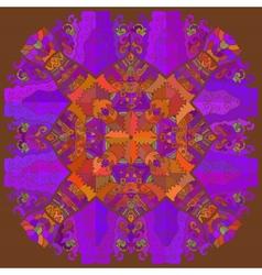 Oriental mandala motif lace vector