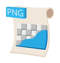 PNG image file extension icon cartoon style vector