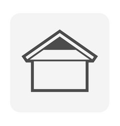 roof shape for house icon design vector image