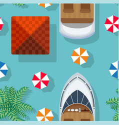 seamless background top view an island vector image