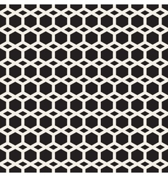 Seamless Black And White Hexagon Grid vector