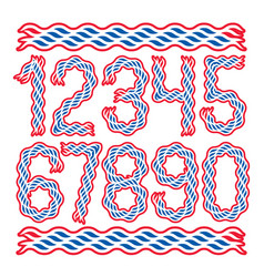 set of bold numbers created using elegant flowing vector image