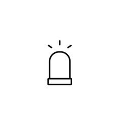 siren alarm emergency icon vector image