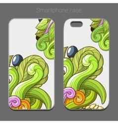Smartphone case design green abstraction vector