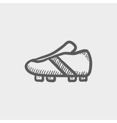 Soccer shoes sketch icon vector image